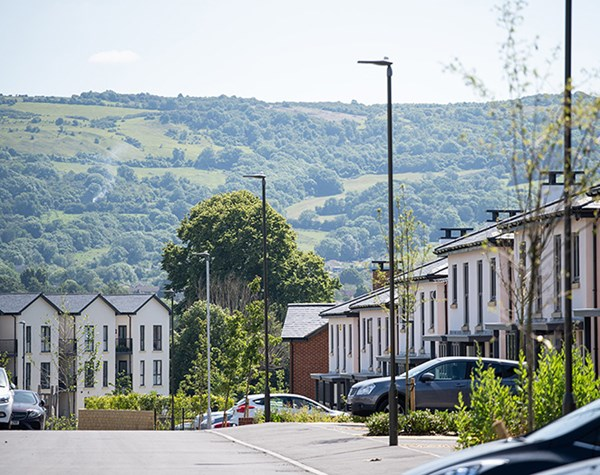 View across to hills behind one of our new developments